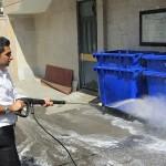 واترجت صنعتی و کاربرد آن در شستشوی سطل زباله