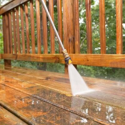 شستن سطح پاسیو و حیاط خلوت با واترجت
