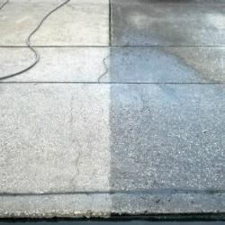 شستن روغن از روی بتن با واترجت