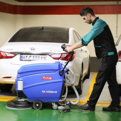 اسکرابر صنعتی مناسب شستشوی کفپوش پارکینگ