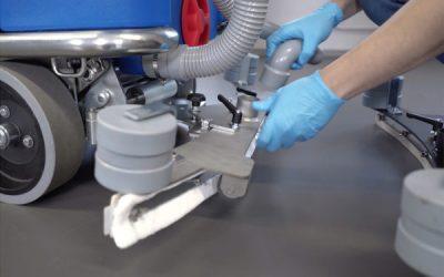 لاستیک تی کف شوی صنعتی صنعتی - اسکرابر صنعتی