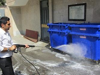ضدعفونی با دستگاه نظافت صنعتی اسکرابر صنعتی و واترجت صنعتی