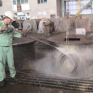 رسوب زدایی با واترجت صنعتی یا کارواش صنعتی