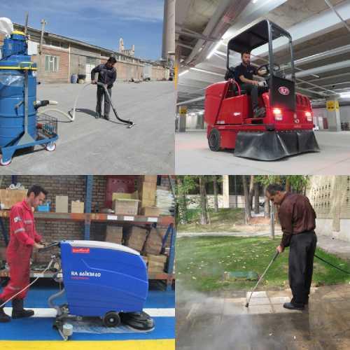 تجهیزات مکانیزه نظافت صنعتی