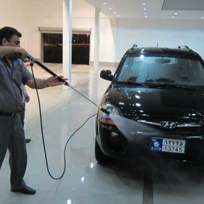 شستشوی خودرو با دستگاه کارواش صنعتی