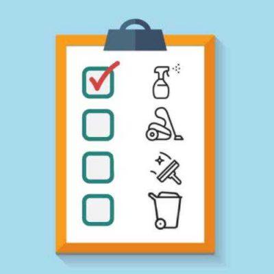 استفاده از چک لیست نظافت کارگاه