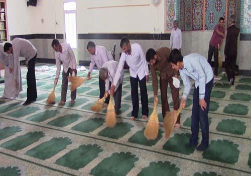 نظافت محیط مساجد و مراکز خدماتی و اداری