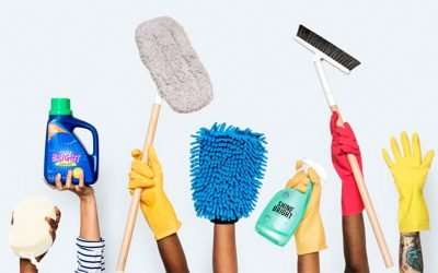 تجهیزات موردنیاز برای تمیز کردن سطوح