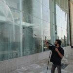 نظافت نمای بیرونی برج   نماشویی برج   نماشوی برج   شستشوی نمای برج