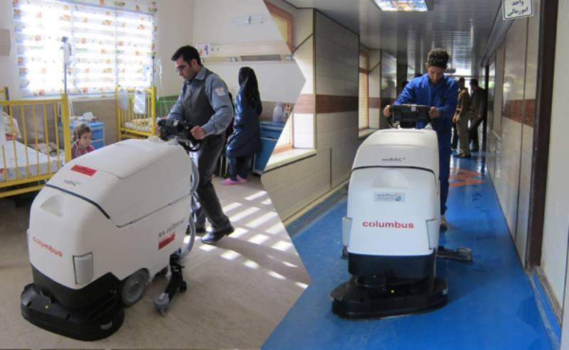استفاده از اسکرابر در نظافت مراکز درمانی و بیمارستان