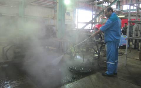 نظافت انواع فنس با واترجت صنعتی