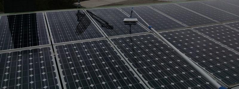 شستشوی پنل خورشیدی با نماشوی